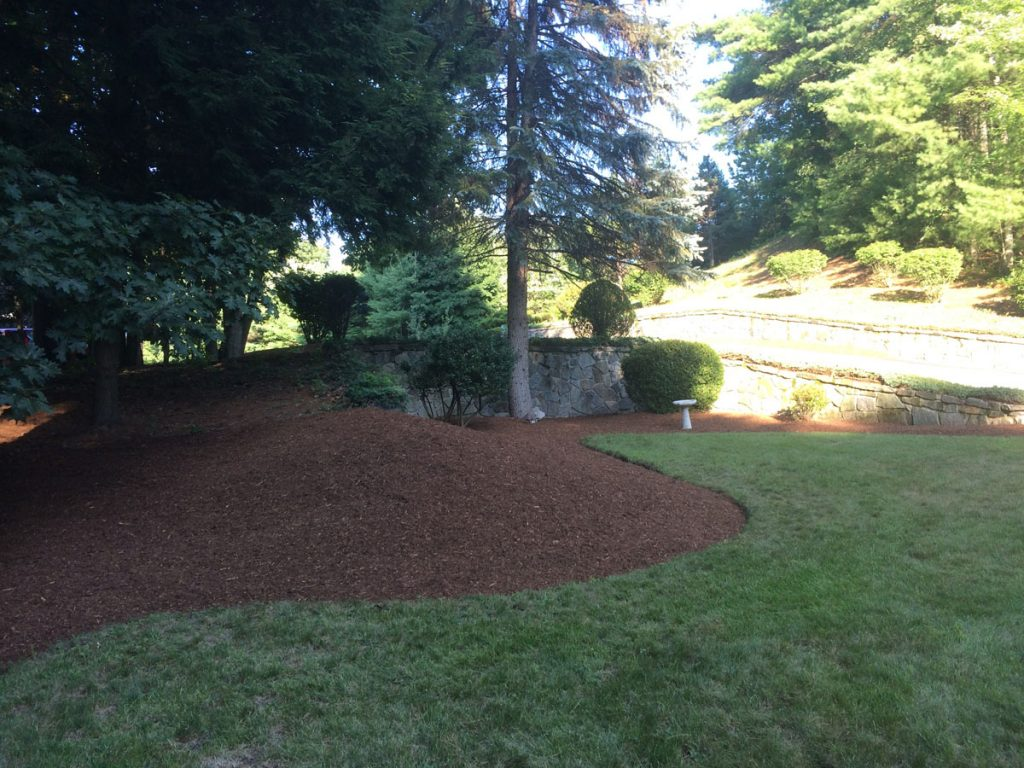 bark mulch for a beautiful yard in nh
